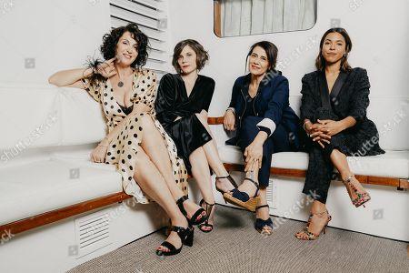 Zabou Breitman, Elea Gobbe-Mevellec, Hiam Abbass et Zita Hanrot close up at the Arte Boat on the Croisette