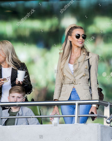 Stock Image of Republic of Ireland vs Gibraltar . Claudine Keane with her son Robert ahead of the game