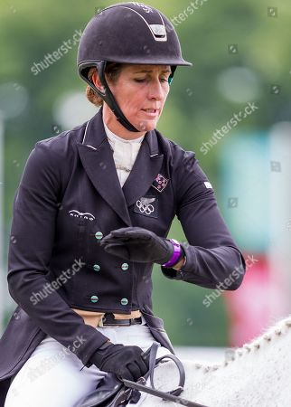 Stock Picture of Caroline Powell NZL riding Sergeant Crisp in the Equi-Trek CCI-L4* Dressage event at Bramham International Horse Trials