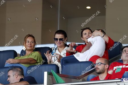 Cristiano Ronaldo Jr with his grandmother Dolores Aveiro, the mother of Cristiano Ronaldo
