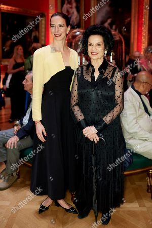 Kristina Blahnik and Bianca Jagger