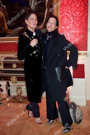 Elizabeth Saltzman and Amanda Harlech