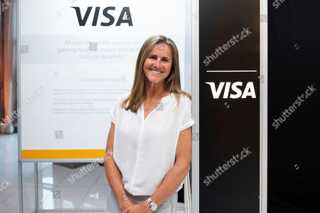 Stock Image of Soccer legend Brandi Chastain joined guests at a reception in Washington, D.C. celebrating Visa's commitment to female empowerment on