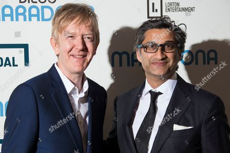 Asif Kapadia, Chris King. Director Asif Kapadia, right, and editor Chris King pose for photographers upon arrival at the screening for 'Diego Maradona' in London