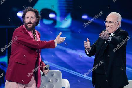 Jovanotti and Pippo Baudo