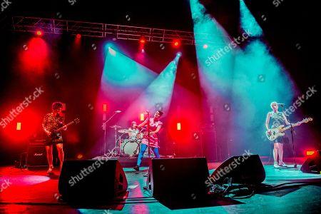 Editorial photo of Bikini Kill in concert, o2 Academy Brixton, London, UK - 10 Jun 2019