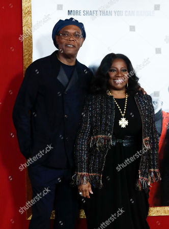 Samuel L. Jackson (L) and his wife LaTanya Richardson (R) pose on the red carpet during premiere of the film 'Shaft' at AMC Lincoln Square in New York, New York, USA, 10 June 2019. The film will be released in the US on 14 June.