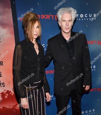 """Stock Image of Sara Driver, Jim Jarmusch. Director Jim Jarmusch, left, and Sara Driver attend the premiere of """"The Dead Don't Die"""" at the Museum of Modern Art, in New York"""