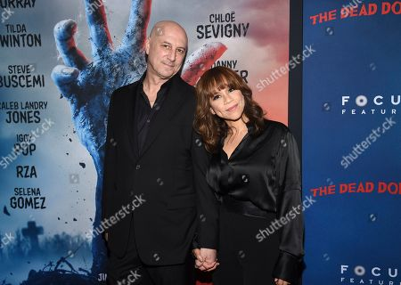 """Stock Picture of Eric Haze, Rosie Perez. Actress Rosie Perez, right, and husband Eric Haze attend the premiere of """"The Dead Don't Die"""" at the Museum of Modern Art, in New York"""