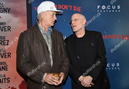 """Stock Picture of Bill Murray, Joshua Astrachan. Actor Bill Murray, left, and producer Joshua Astrachan attend the premiere of """"The Dead Don't Die"""" at the Museum of Modern Art, in New York"""