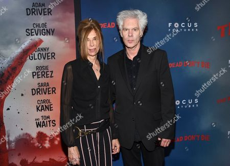"""Stock Photo of Sara Driver, Jim Jarmusch. Director Jim Jarmusch, left, and Sara Driver attend the premiere of """"The Dead Don't Die,"""" at the Museum of Modern Art, in New York"""