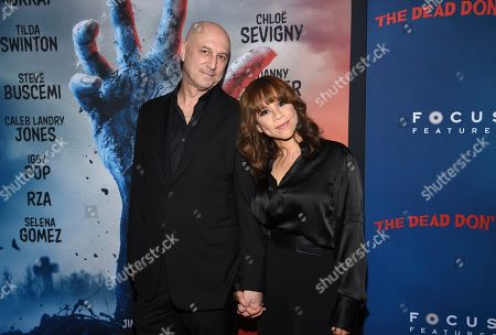 """Eric Haze, Rosie Perez. Actress Rosie Perez, right, and husband, Eric Haze, attend the premiere of """"The Dead Don't Die,"""" at the Museum of Modern Art, in New York"""