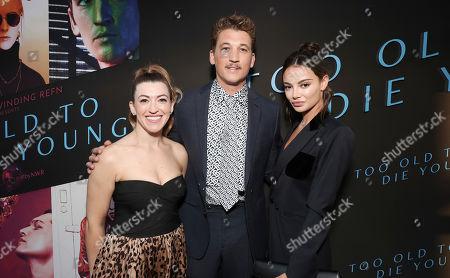 Stock Image of Miles Teller, Keleigh Sperry and Dana Teller