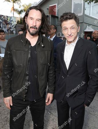 Keanu Reeves and John Hawkes