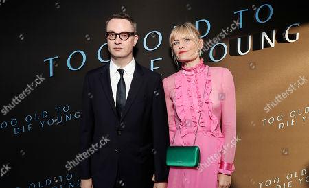 Stock Picture of Nicolas Winding Refn and Liv Corfixen