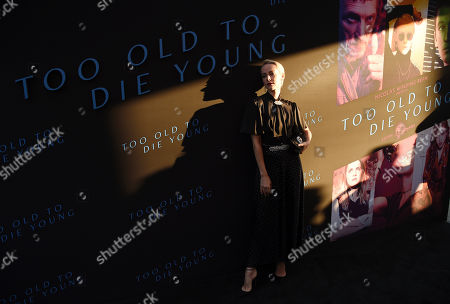 """Stock Photo of Jena Malone, a cast member in the Amazon Prime series """"Too Old to Die Young,"""" poses at a special screening of the show at the Vista Theatre, in Los Angeles"""