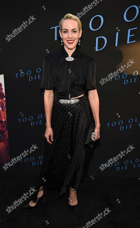 """Jena Malone, a cast member in the Amazon Prime series """"Too Old to Die Young,"""" poses at a special screening of the show at the Vista Theatre, in Los Angeles"""