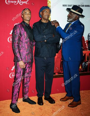 L-R: Jessie T. Usher, Samuel L. Jackson, Richard Roundtree
