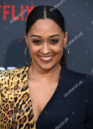 """Tia Mowry-Hardrict arrives at the Los Angeles premiere of """"Murder Mystery"""" at the Regency Village Theatre on in Westwood, Calif"""