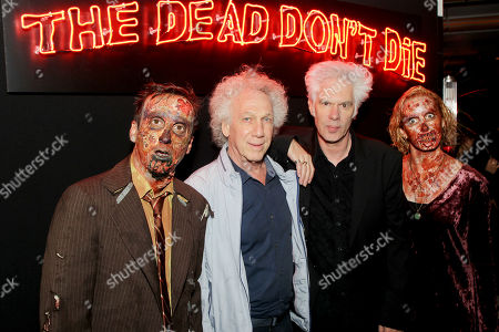 Stock Image of Bob Gruen, Jim Jarmusch (Director) with Zombies
