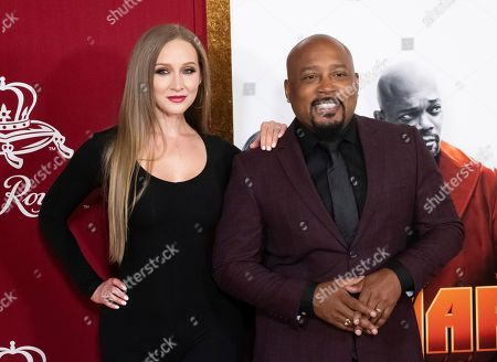 "Daymond John, Heather Taras. Heather Taras and Daymond John attend the premiere of ""Shaft"" at AMC Lincoln Square, in New York"
