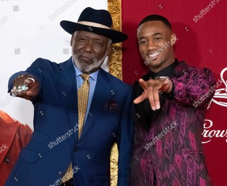 "Richard Roundtree, Jessie T. Usher. Richard Roundtree, left, and Jessie T. Usher attend the premiere of ""Shaft"" at AMC Lincoln Square, in New York"