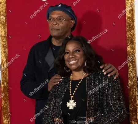 "Samuel L. Jackson, LaTanya Richardson. Samuel L. Jackson and LaTanya Richardson attend the premiere of ""Shaft"" at AMC Lincoln Square, in New York"