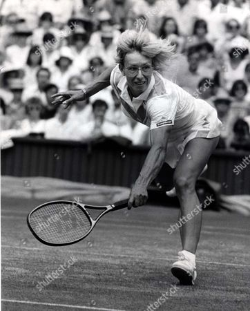 Martina Navratilova Tennis Player Martina Navratilova Wins Her Semi-final Against Chris Lloyd At Wimbledon.