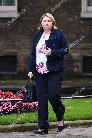 Karen Bradley, Secretary of State for Northern Ireland, arrives at No.10 Downing Street
