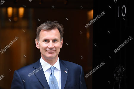 Jeremy Hunt, Foreign Secretary, leaves No.10 Downing Street
