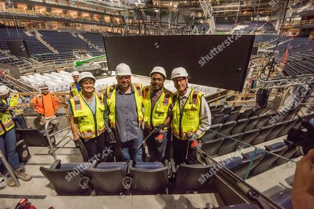 Editorial photo of Golden State Warriors and Ticketmaster Executives Drill in Last Seat at New, State-of-the-Art Chase Center, San Francisco, USA - 10 Jun 2019