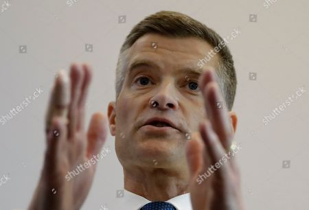 Conservative Party leadership contender Mark Harper launches his campaign, in London, . The Conservatives are holding an election to replace Prime Minister Theresa May, who resigned as party leader last week after failing to lead Britain out of the European Union on schedule