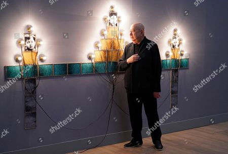 French artist Christian Boltanski attends the press preview of the 'Christian Boltanski - Lifetime' exhibition at the National Art Center in Tokyo, Japan, 11 June 2019. The exhibition presents almost 50 artworks by the artist and will be open to the public from 12 June to 02 September 2019.