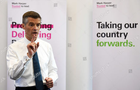 Mark Harper launches his bid to become the leader of the Conservative Party in central London, Britain, 11 June 2019. The final candidates for the Tory leadership race have been confirmed, with 10 running to become the next Prime Minister of Britain.