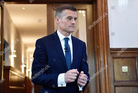 Mark Harper attends to launch his bid to become the leader of the Conservative Party in central London, Britain, 11 June 2019. The final candidates for the Tory leadership race have been confirmed, with 10 running to become the next Prime Minister of Britain.