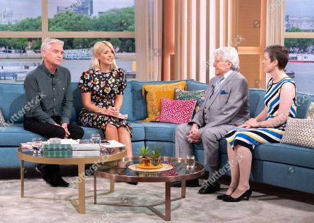 Stock Image of Phillip Schofield and Holly Willoughby with Lionel Blair and Angela Kitching