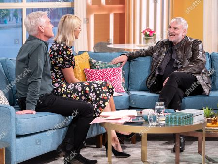 Phillip Schofield and Holly Willoughby with Kim Bodnia