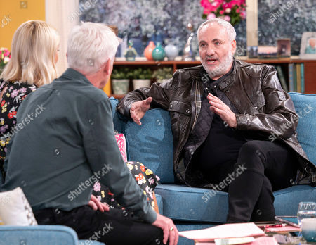 Stock Image of Phillip Schofield and Holly Willoughby with Kim Bodnia