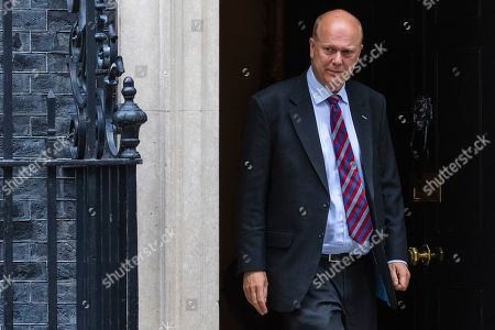 Transport Secretary Chris Grayling leaves 10 Downing Street after the Cabinet meeting.