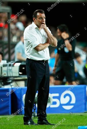 Iran's head coach Marc Wilmots reacts during the International Friendly soccer match between South Korea and Iran at the Seoul World Cup Stadium in Seoul, South Korea, 11 June 2019.