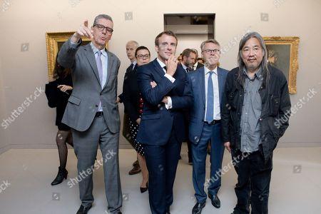 President Emmanuel Macron met French-Chinese artist Yan Pei-Ming during the museum visit.