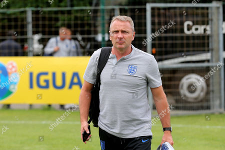 England Manager, Paul Simpson, arrives at the ground during Guatemala Under-23 vs England Under-20, Tournoi Maurice Revello Football at Stade Marcel Cerdan on 11th June 2019