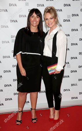 Stock Image of Michelle Hardwick and Fiancee Kate Brooks