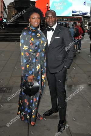 Jimmy Akingbola and guest