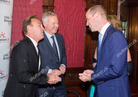 Prince William with Jason Donovan and Rory Bremner