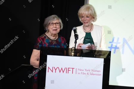 Stock Image of Riccie Johnson and Lesley Stahl
