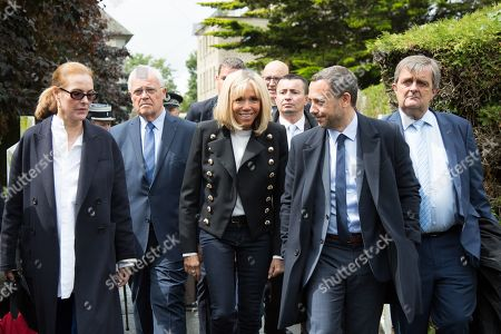 Stock Photo of Carole Bouquet, Brigitte Trogneux, Adrien Taquet