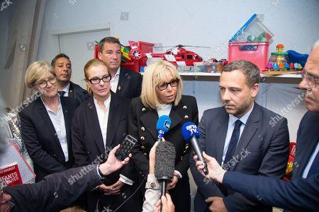 Stock Image of Carole Bouquet, Brigitte Trogneux, Adrien Taquet