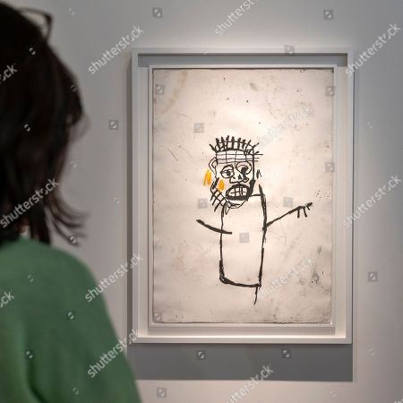 An untitled artwork (1982) by US artist Jean-Michel Basquiat is on display at the international art show Art Basel, in Basel, Switzerland, 11 June 2019. Art Basel runs from 13 to 16 June.