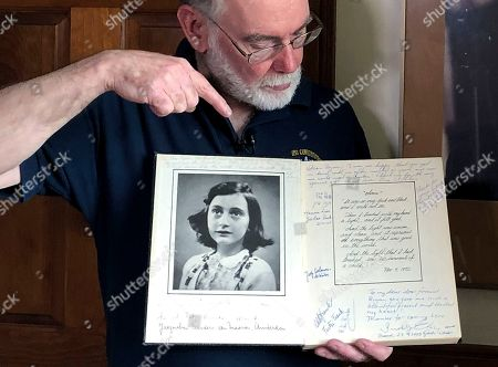 Ryan Cooper, Anne Frank. Ryan Cooper holds a 1972 portion of a diary that he wrote when he visited Otto Frank, the father of the famed Holocaust victim and diarist Anne Frank, at his home in Yarmouth, Mass. The diary includes a photo of Anne Frank and the autographs of other people he met who knew her. Cooper has donated a trove of letters and mementos he received from Otto Frank to the U.S. Holocaust Memorial Museum ahead of the 90th anniversary of Anne Frank's birthday